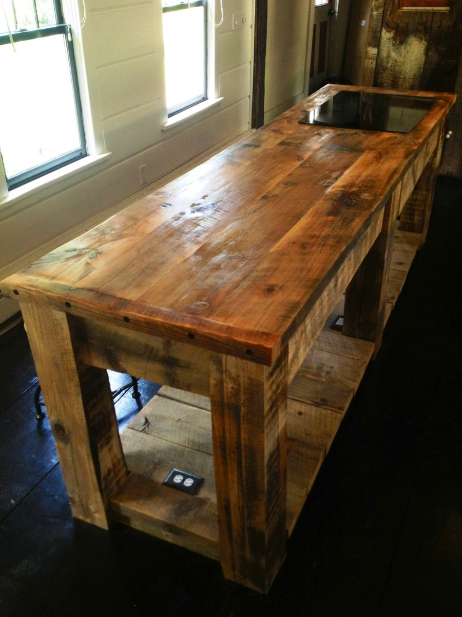 Hand Crafted Rustic Kitchen Island by EB Mann