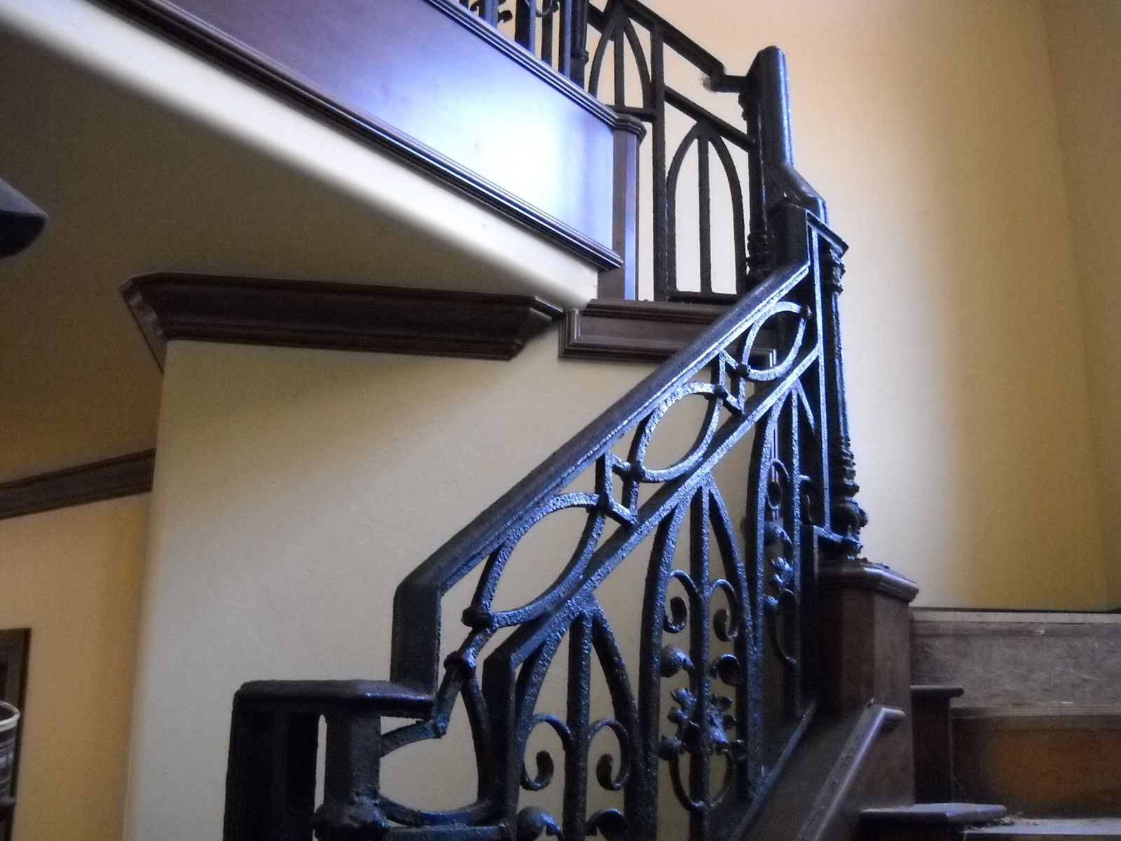 Custom Ornamental Stair Railing In Texture Bronze Finish