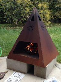 Buy a Custom Outdoor Steel Chiminea-Fireplace, made to ...