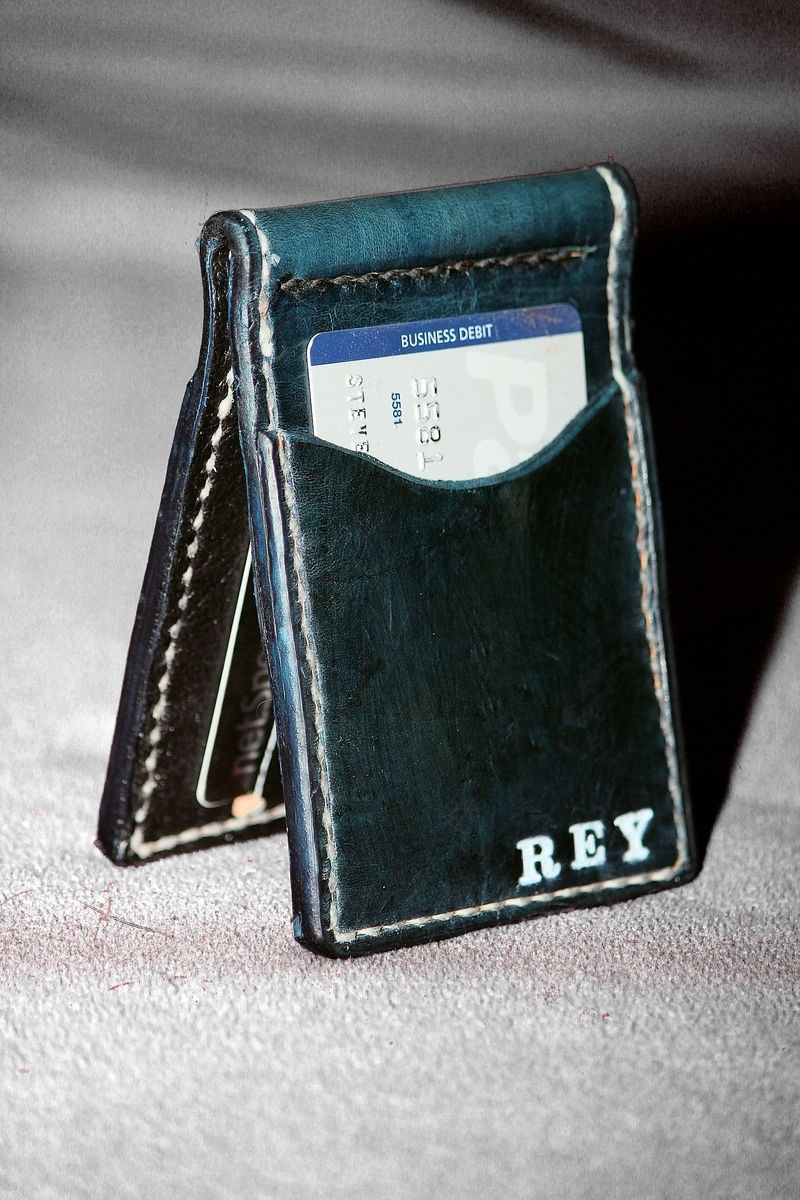Handmade Custom Slim Front Pocket Leather Wallets by