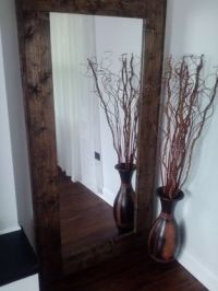 Hand Crafted Large Floor Mirror, Reclaimed Wood Mirror ...