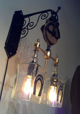 Hand Crafted Recycled Wine Bottle Liquor Bottle Hanging