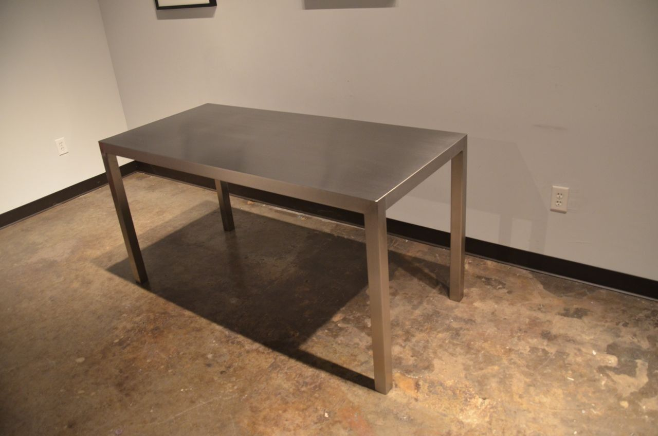 stainless steel kitchen table ventilation system custom made seamless dining by sarabi studio
