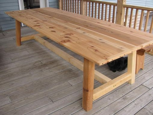 Handmade Large Outdoor Dining Table
