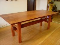 Handmade Redwood Table With Japanese Joinery by Heritage ...