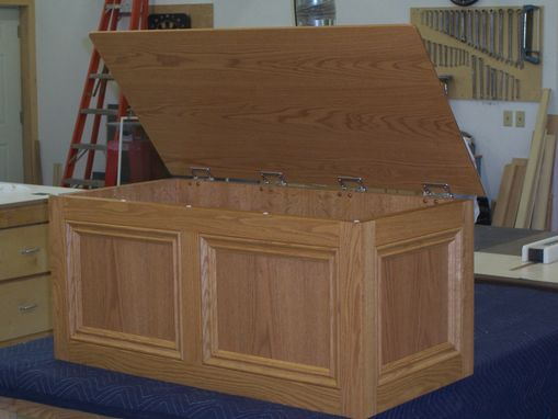Hand Made Oak Toy Box by Jeffrey William Construction Inc
