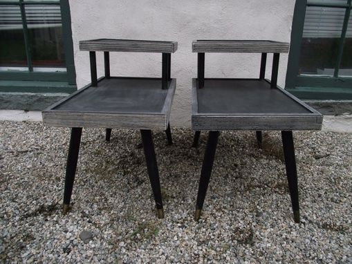 Hand Made Mid Century End Table Set, 2 Tier, Iconic Design