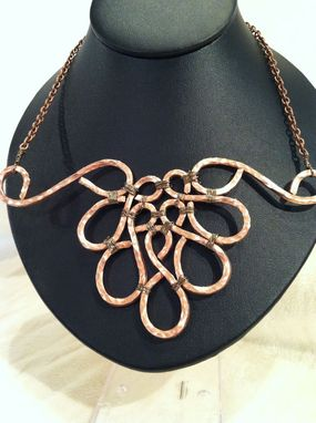 Handmade Hand Hammered Copper Wire Necklace by