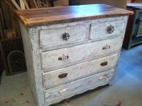 Custom Made Captain's Dresser In Antique Whitewash by ...