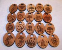 Custom Laser Etched Wood Pendants by Creations In Dichroic ...