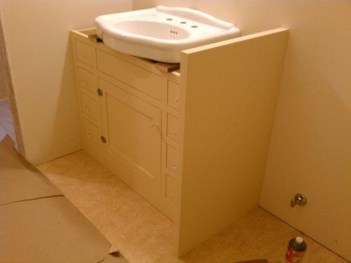Custom Made Bath Cabinet For Pedestal Sink By Artisan