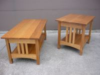 Handmade Quartersawn Oak Mission Style Coffee Table And