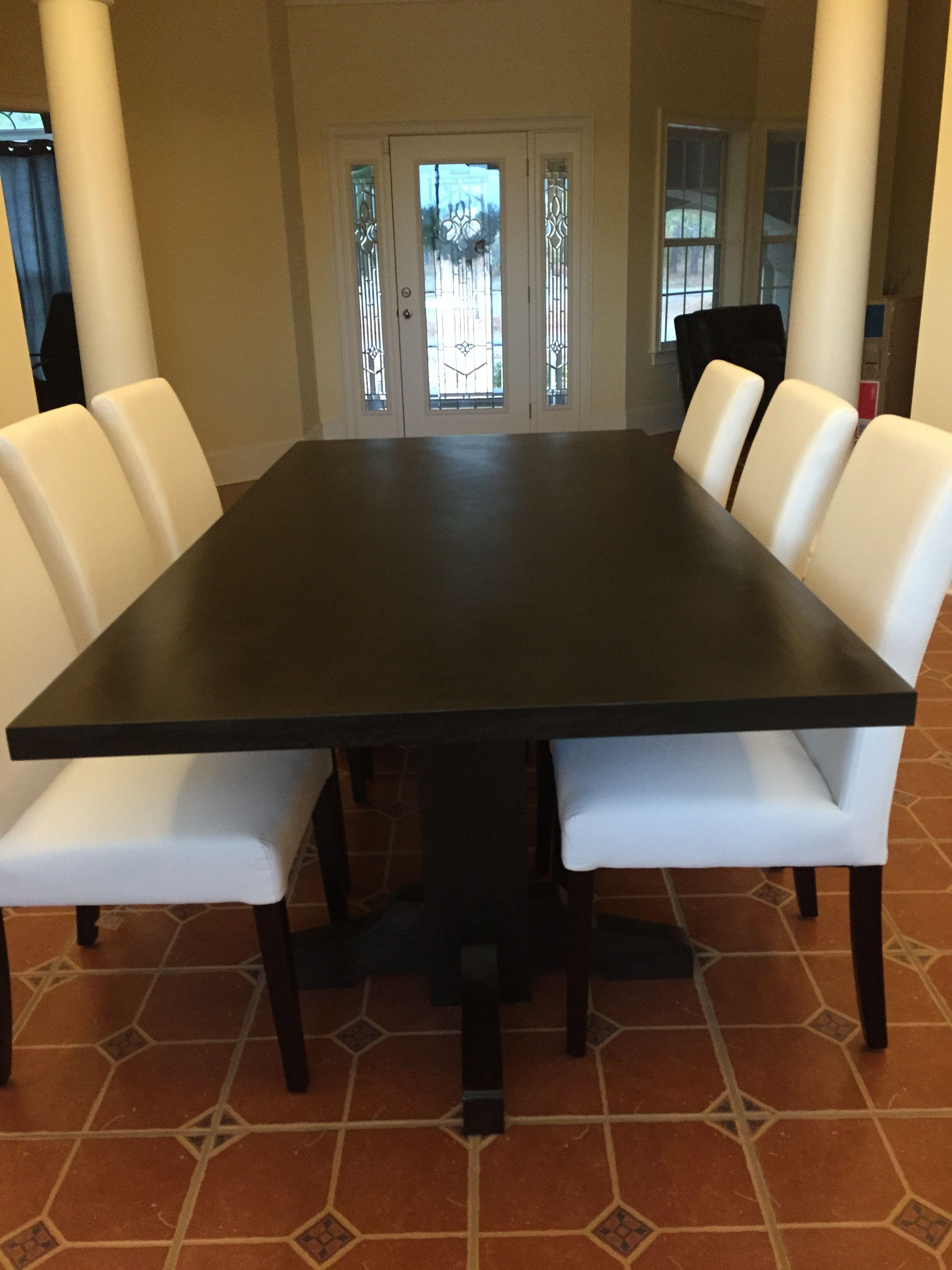 black walnut kitchen table narrow depth cabinets hand made dining extra dark espresso