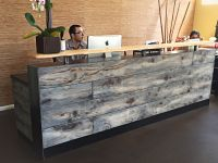 Buy a Hand Made #8 Reclaimed Distressed Wood Reception ...