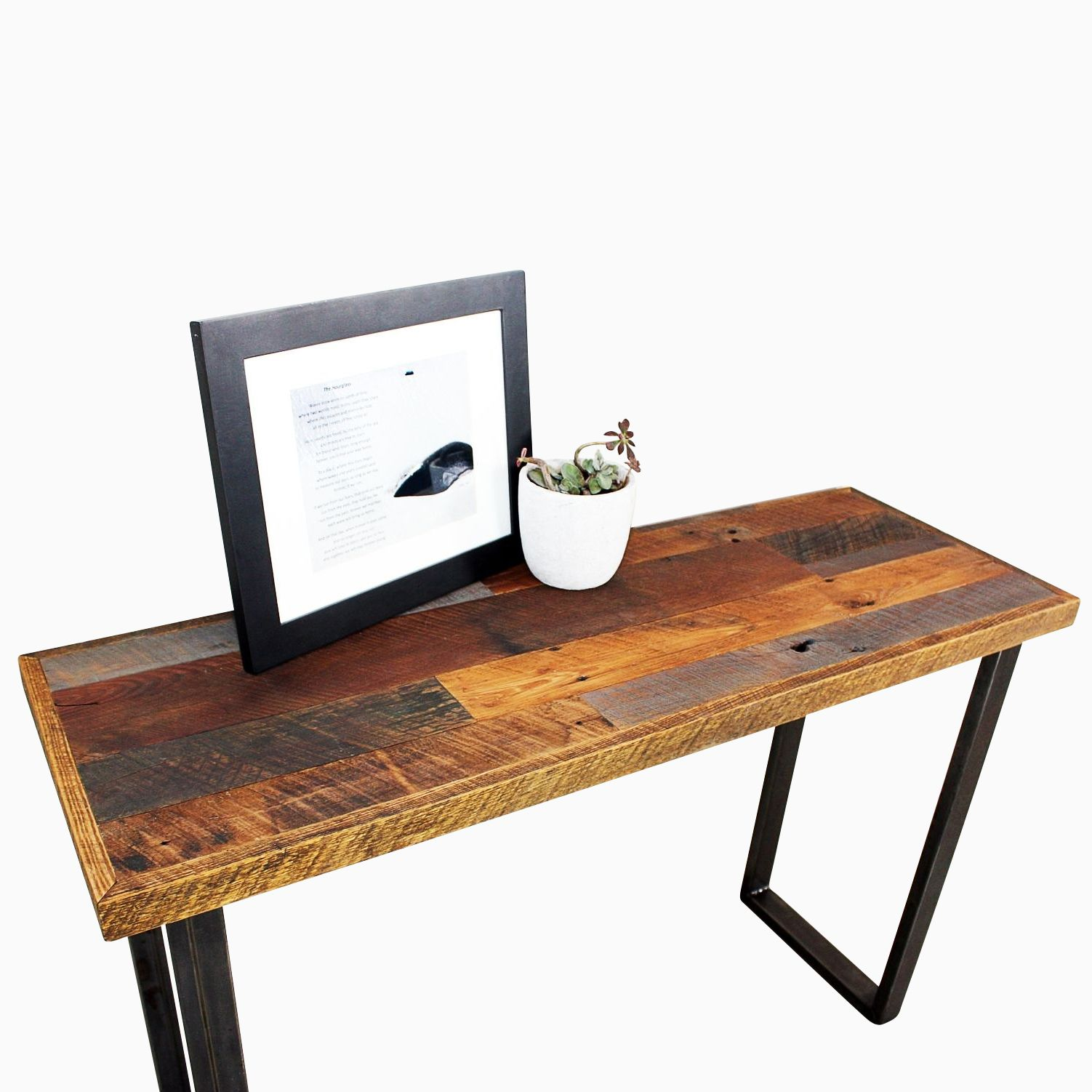 how to make a sofa table top cheap sectional sofas utah buy hand made patchwork reclaimed timber console custom