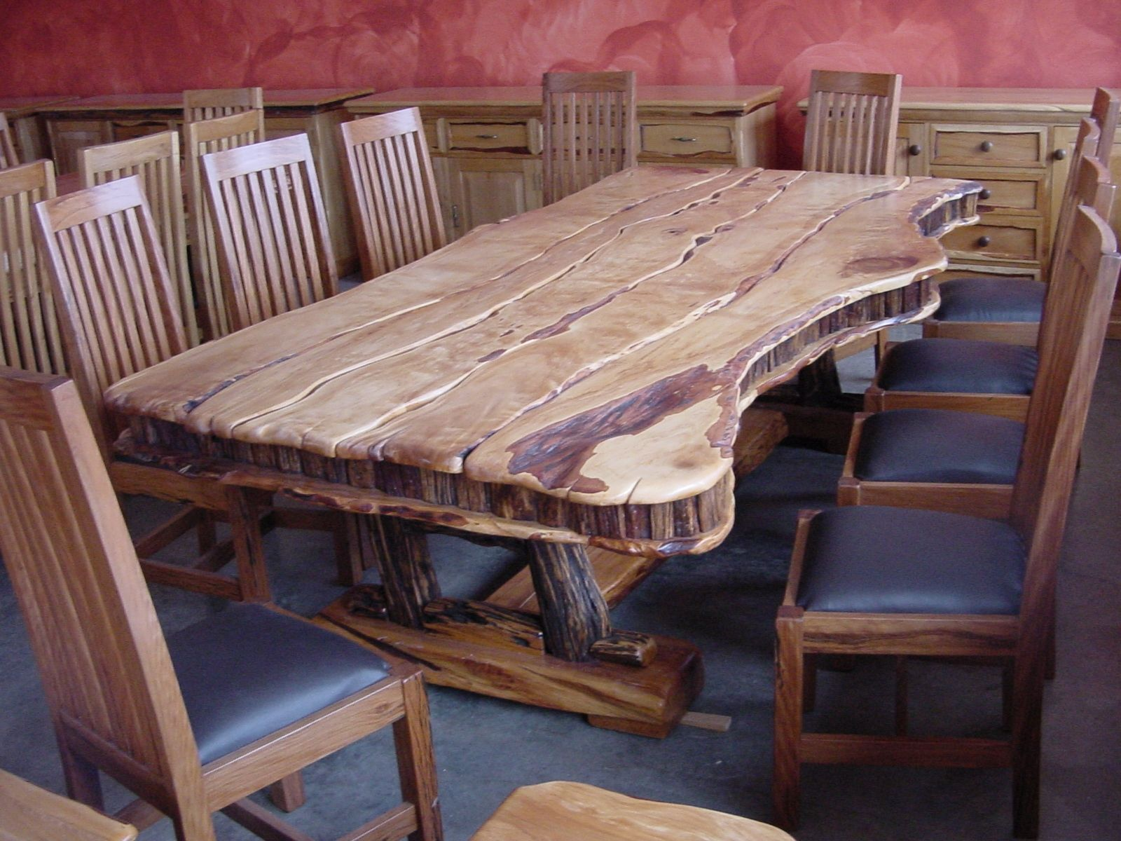 10 chair dining table set extra wide zero gravity hand made seat yellowood sneezewood by african custom