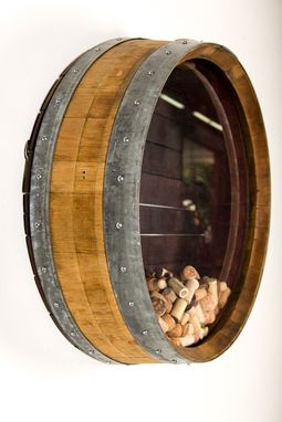 Buy a Custom Made Kala  Wine Barrel Cork Holder made to order from Wine Country Craftsman