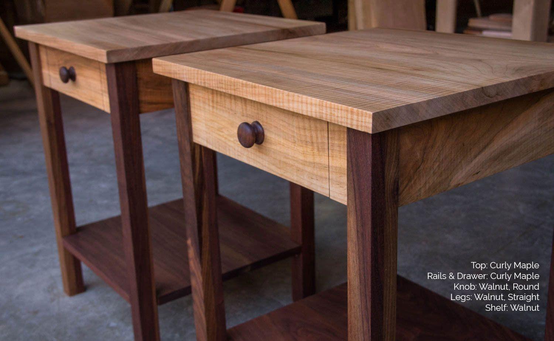 Buy A Handmade Shaker-Inspired End Side Table Nightstand
