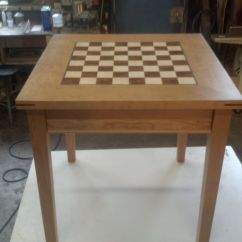 Chess Table And Chairs Outdoor Double Papasan Chair Hand Made Black Walnut Burl By Joel Cherry