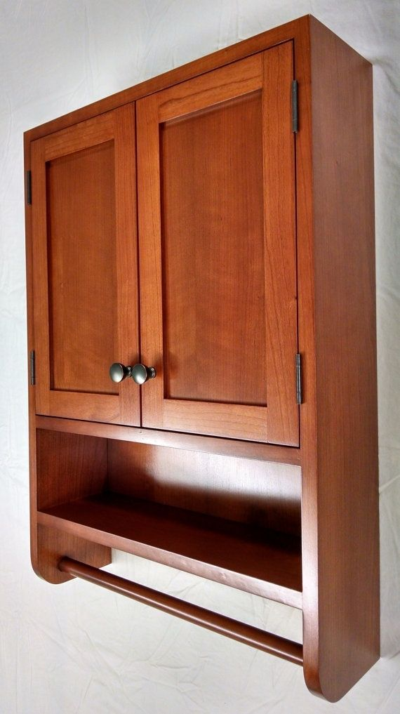 Hand Crafted Cherry Hanging Bathroom Cabinet by WoodLands
