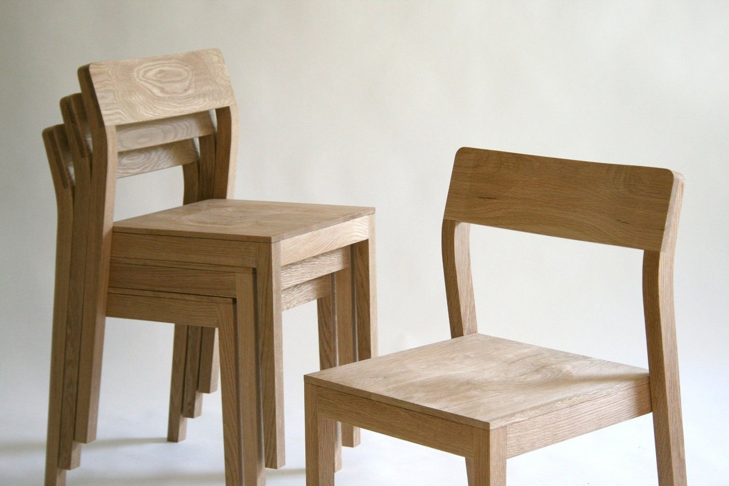 Hand Made Stackable Wood Dining Chair by Kapel Designs