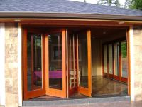 Handmade Folding Exterior Wood Window Walls by Lacey Door