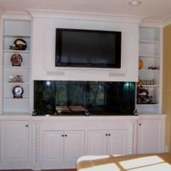 Living Room Design Ideas Tv Over Fireplace Family Decor Hand Made Built-in Fish Tank Entertainment Center. By Kent ...