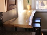 Hand Crafted Siberian Elm Slab Breakfast Bar by Where Wood ...