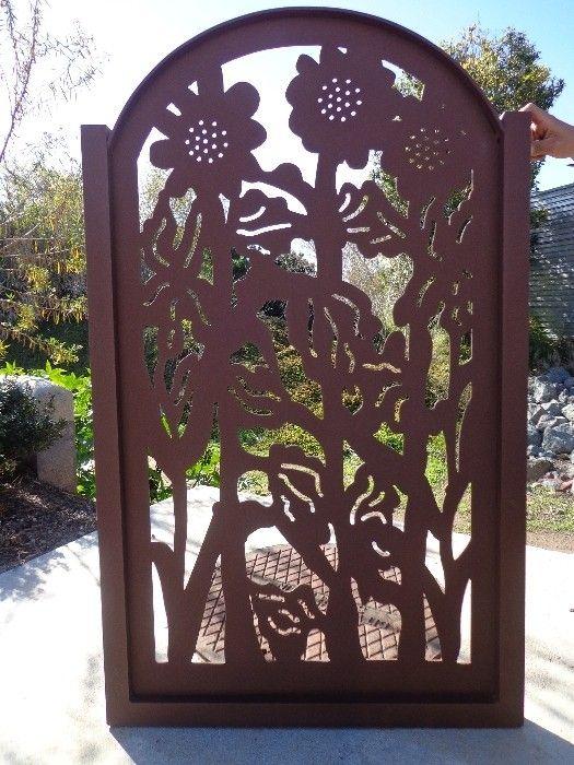 Buy a Hand Crafted Metal Art Gate Sunflower Ranch Farm Ornamental Rust Iron Garden Fantasy made