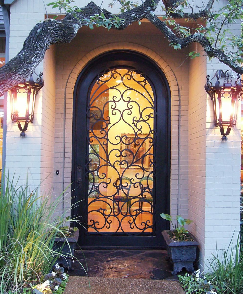 Custom Made Wrought Iron Door Charlotte Nc by The Looking Glass  CustomMadecom