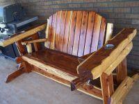 Custom Made Rustic Cedar Glider Swing by Wild West ...