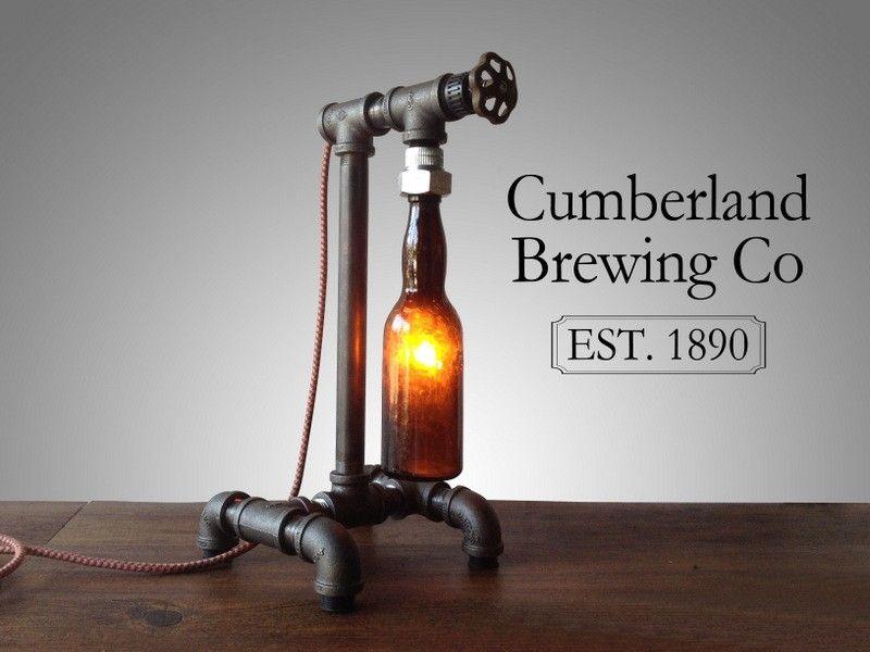 Buy Hand Made Industrial Beer Bottle Lamp