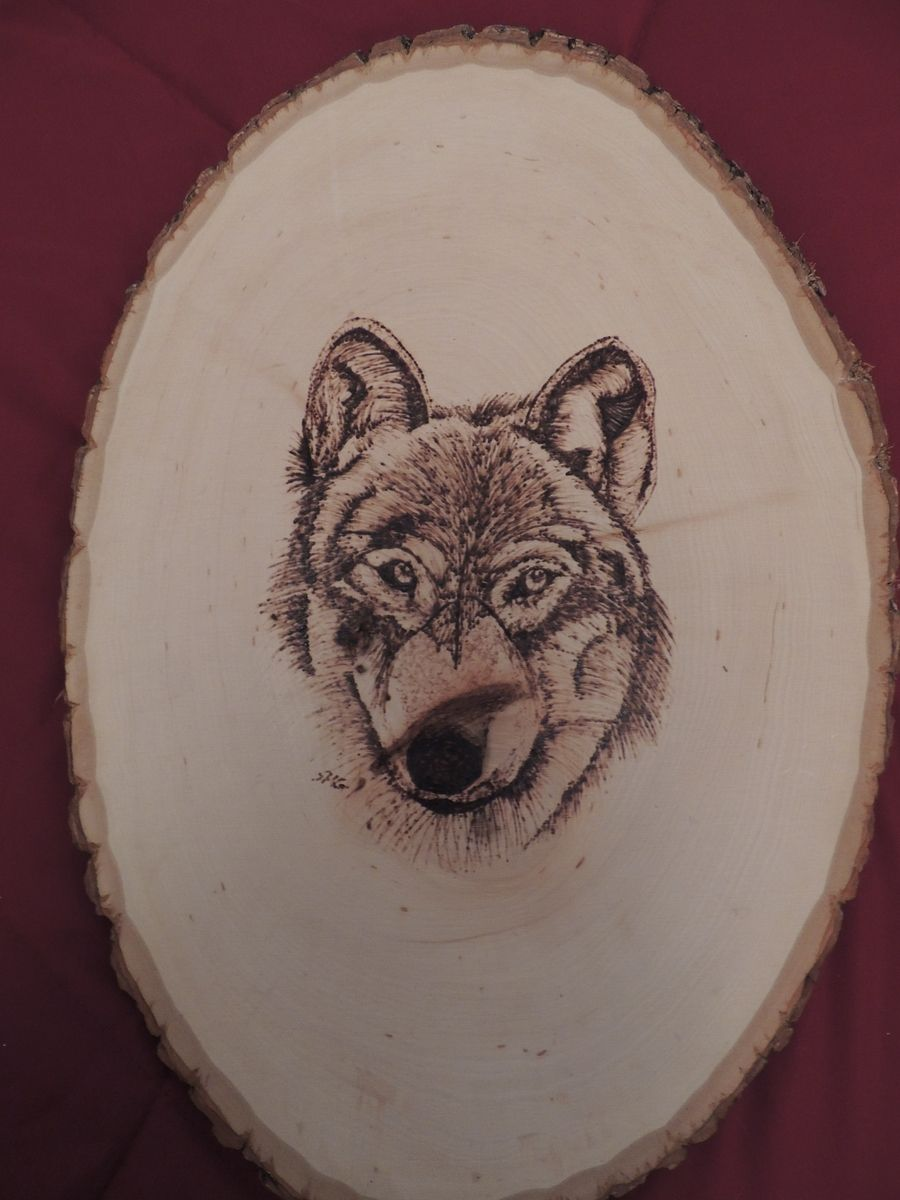 Hand Made Wolf Wood Burning by Art Your Way  CustomMadecom