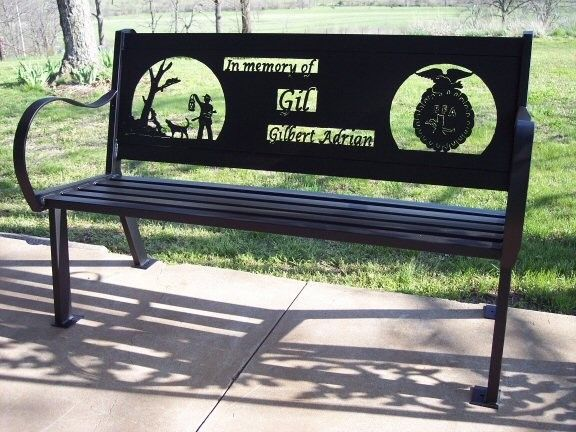 Custom Made Memorial Bench By Hooper Hill Custom Metal