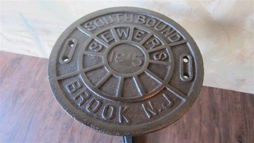 kitchen and dining room tables bathroom cabinets custom bistro manhole cover table by wild edge designs ...