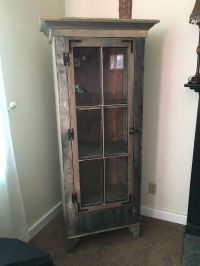 Buy a Custom Rustic Curio Cabinet With Reclaimed Antique ...