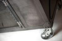 Handmade Rolling Steel Media Cabinet, Industrial ...