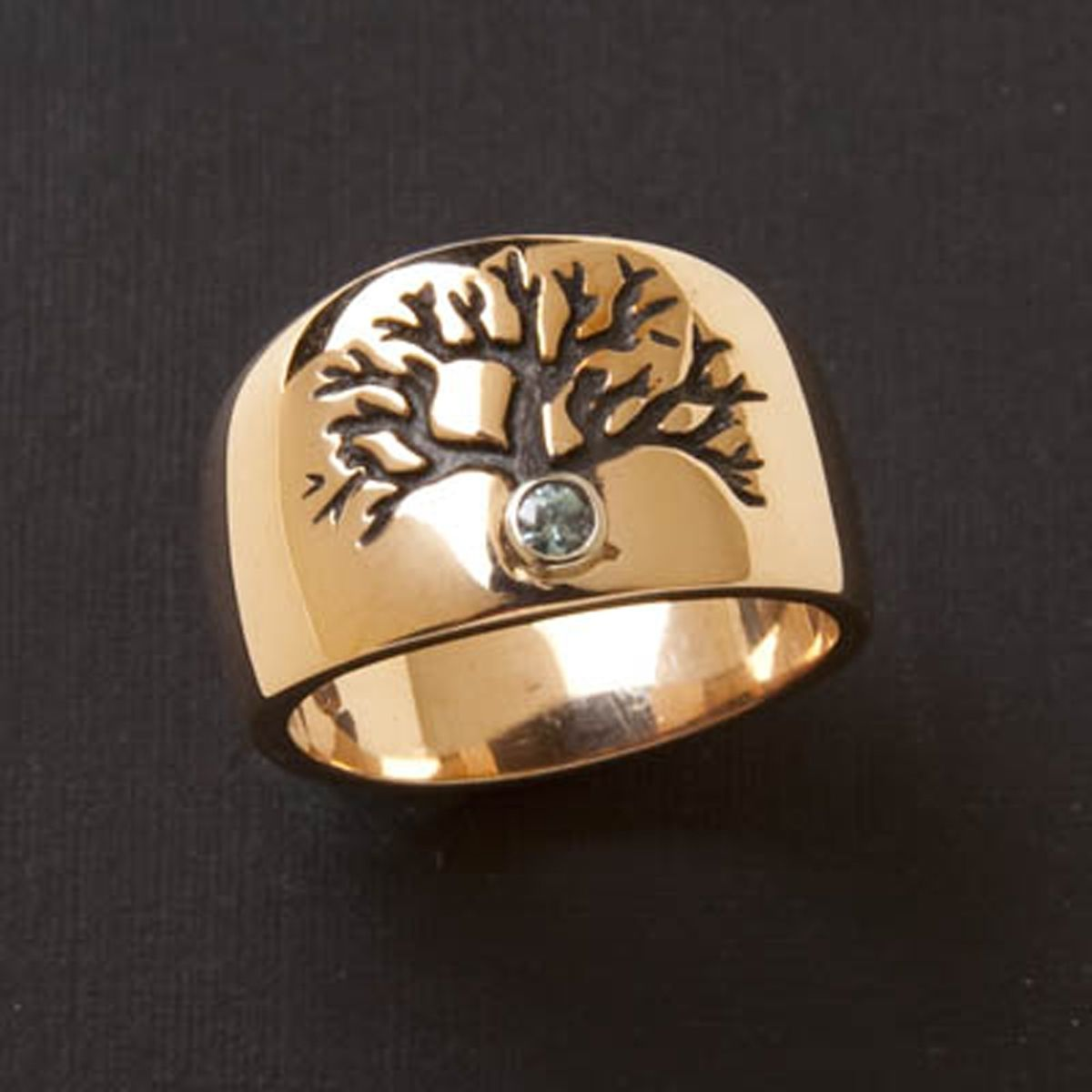 Hand Made Tree Of Life Wedding Ring  by Black Mountain Jewelry Co  CustomMadecom
