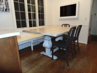 Custom Made Farmhouse Pedestal Base Trestle Table by ...