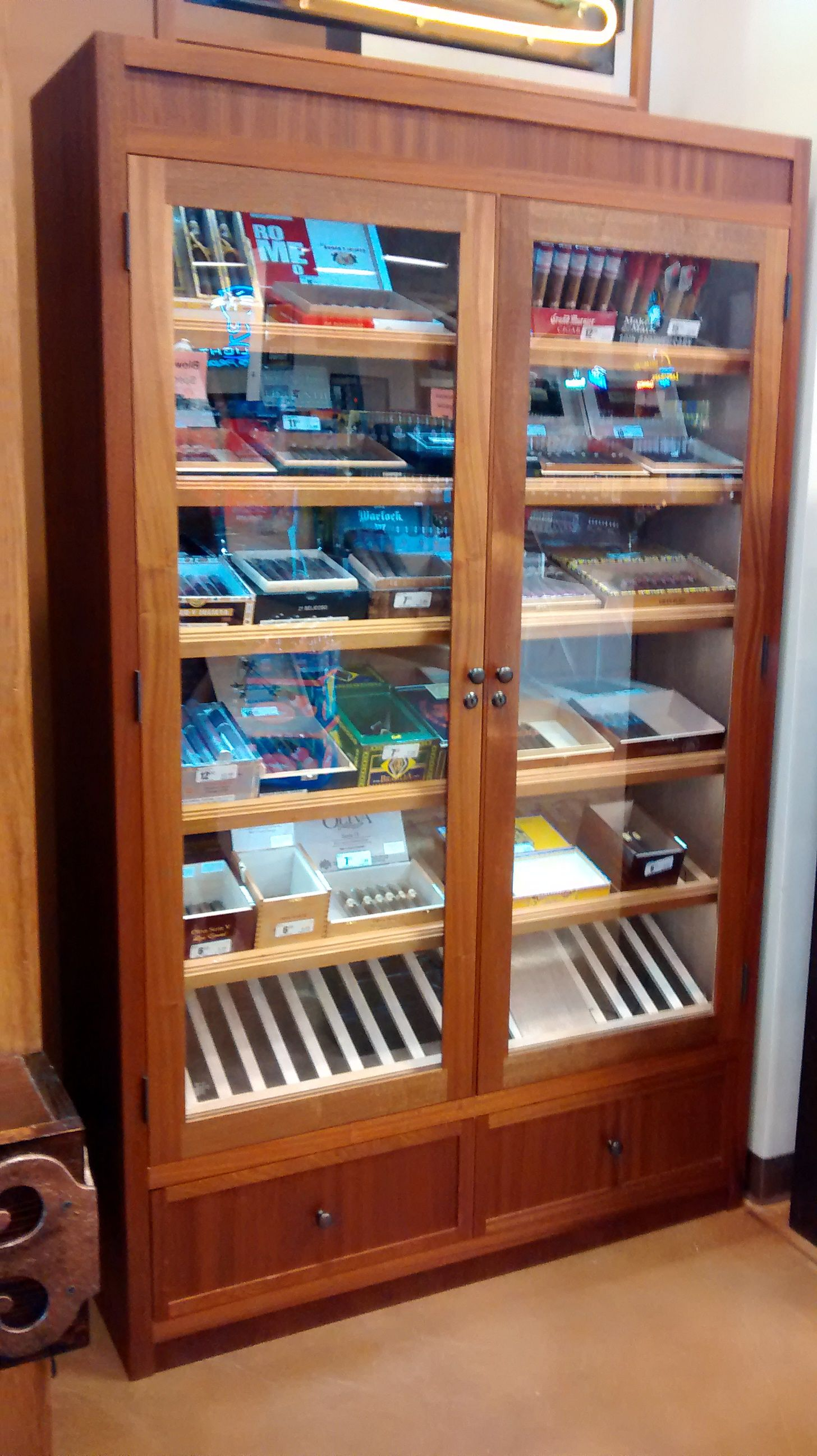Handmade Large Retail Humidor Display Cabinet by Humidor