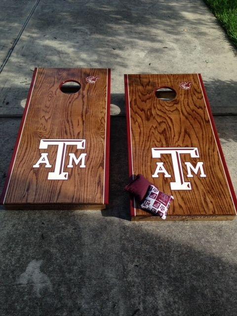 Handmade Custom Corn Hole Boards Texas AM Aggies by My