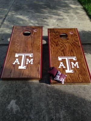 Handmade Custom Corn Hole Boards Texas A&M Aggies by My ...