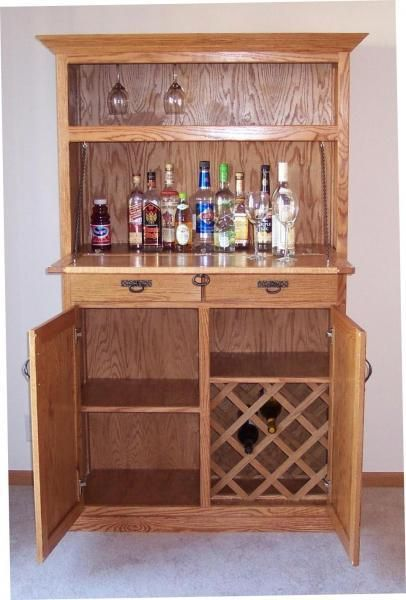 Hand Crafted Oak Liquor Cabinet by Jays Custom Woodwork