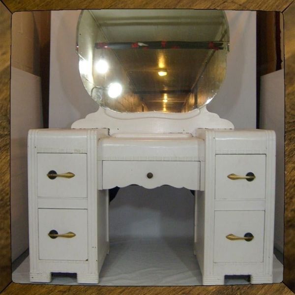 Hand Crafted Art Deco Vanity Dressing Table Small Desk
