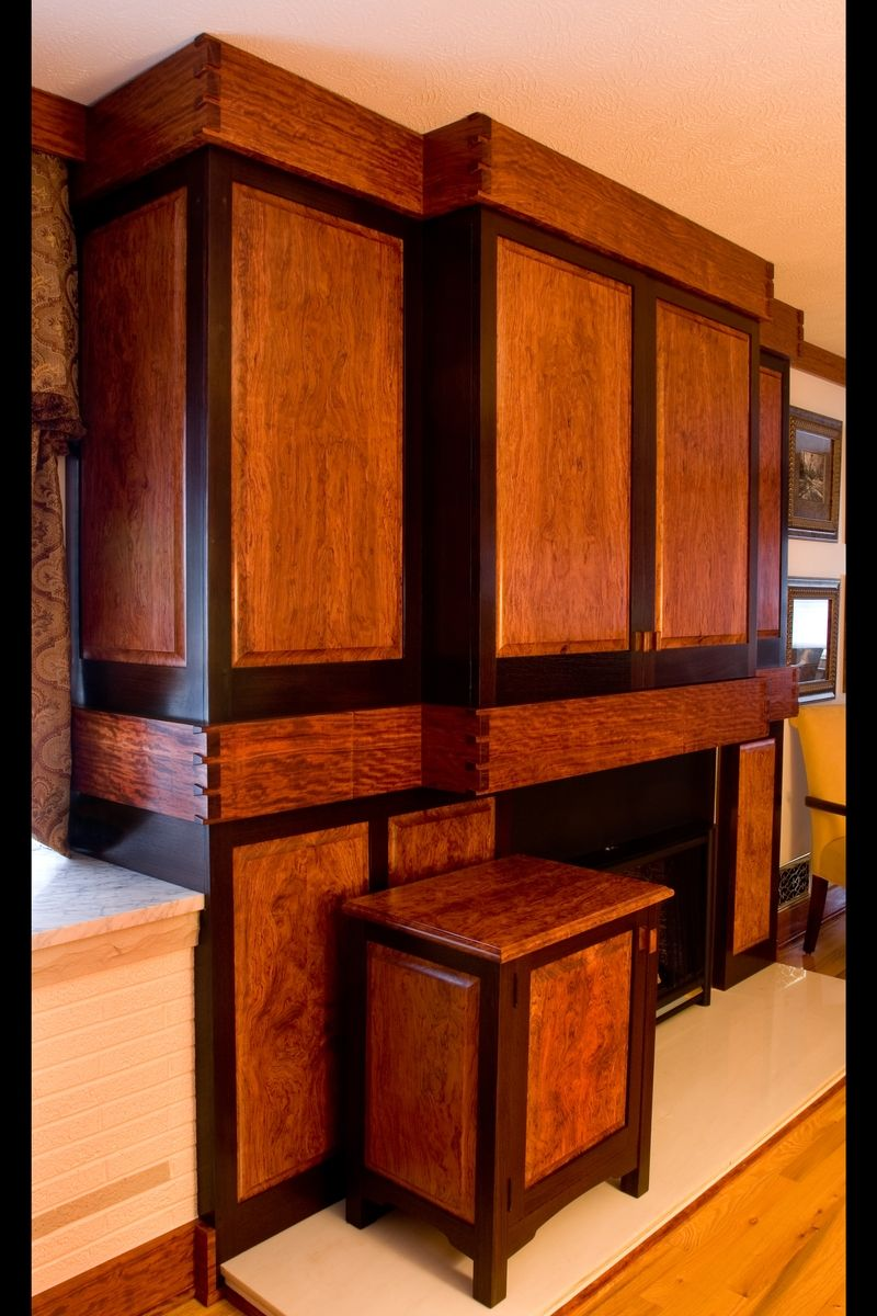 stand alone kitchen cabinets remodeling virginia beach handmade built in bubinga & wenge entertainment cabinet by ...