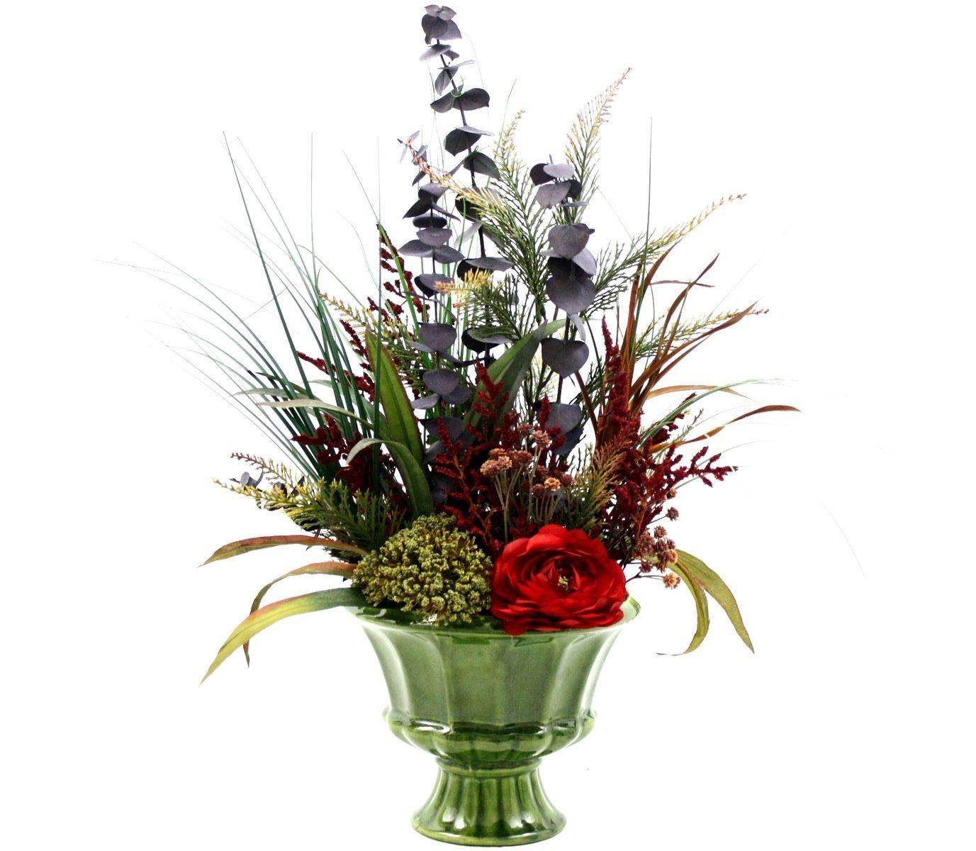 Custom Spring Decor Silk Flower Arrangement, Home