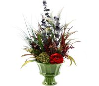Custom Spring Decor Silk Flower Arrangement, Home