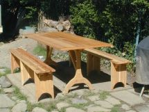 Hand Crafted Shaker Picnic Table And Benches Oreland