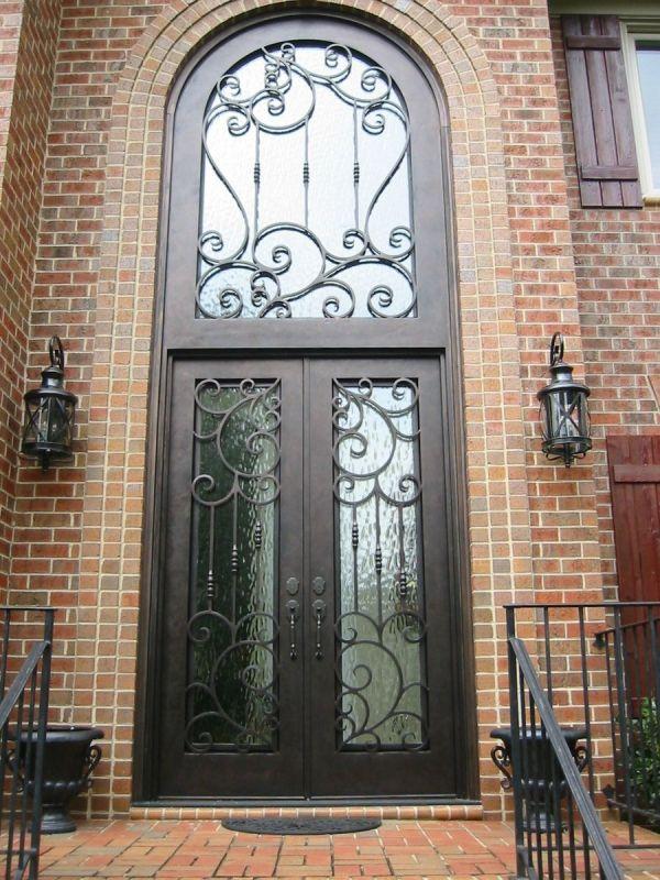 Wrought Iron Glass Front Door