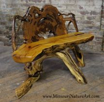 Hand Crafted Upcycled Driftwood & Rescued Wood Log Benches